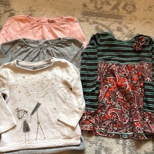 Lot of Long Sleeve Girl's 2T Dress and Tops